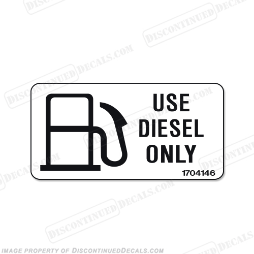Label Decal - Diesel Fuel Only