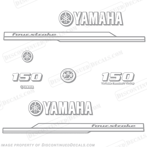 Yamaha 150hp FourStroke Decal Kit - Any Color! - 2008+