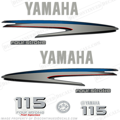 Yamaha 115hp 4 stroke decals for Yamaha boat decals graphics