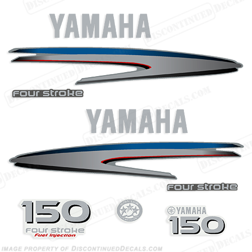Yamaha 150hp 4 stroke decals 2002 2006 for Yamaha boat decals graphics
