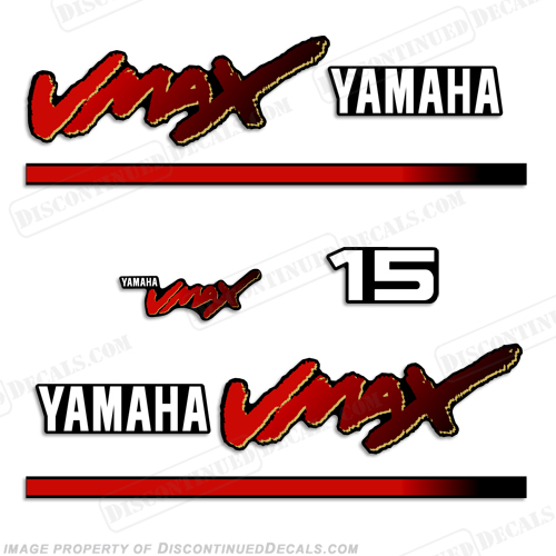 Yamaha 15hp vmax decals 1998 2004 for Yamaha vmax outboard review