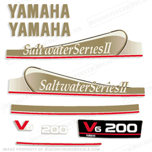 Yamaha 200hp saltwater series ii decals gold