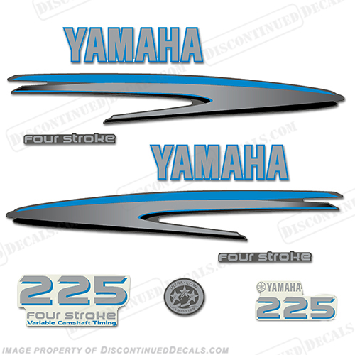Yamaha 225hp fourstroke decals custom blue