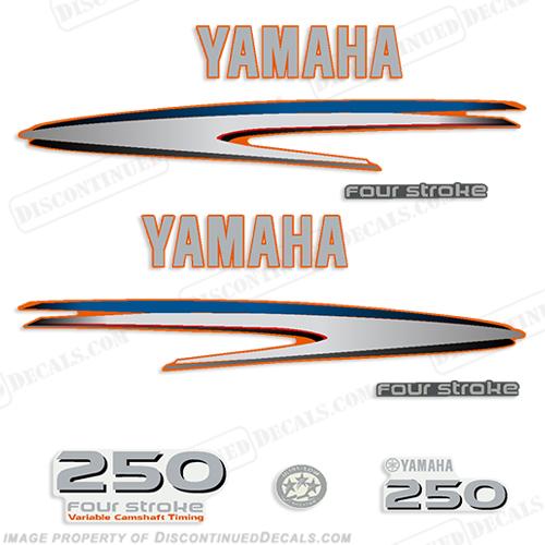 Yamaha 250hp fourstroke decals custom orange