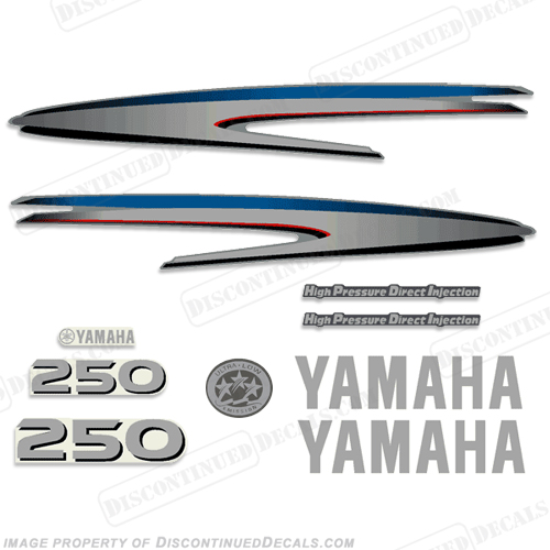 Yamaha 250hp hpdi decal kit for Yamaha 250 hpdi specs