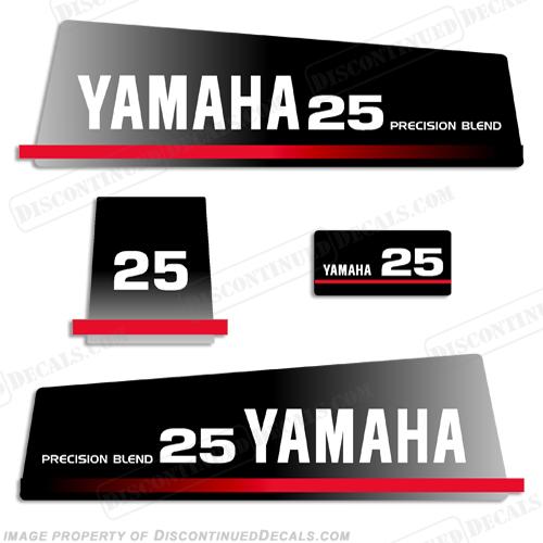 Yamaha 1993 25hp Decal Kit
