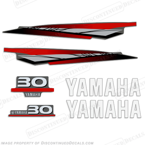 Yamaha 30hp 2 stroke decal kit for Yamaha 30hp 2 stroke