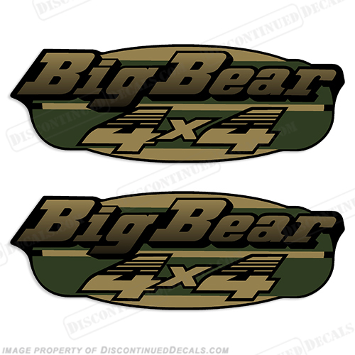 Yamaha 1998 350 Big Bear 4x4 ATC Decals