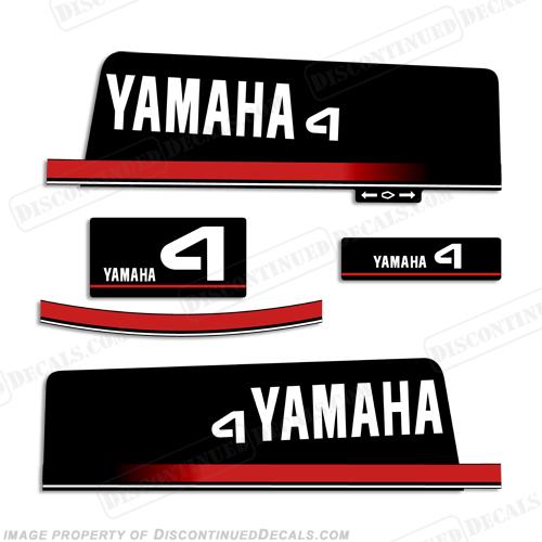 Yamaha 1984 1997 4hp decal kit