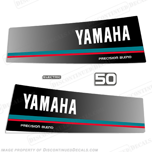 Yamaha 1984 1985 50hp decals for Yamaha boat decals graphics