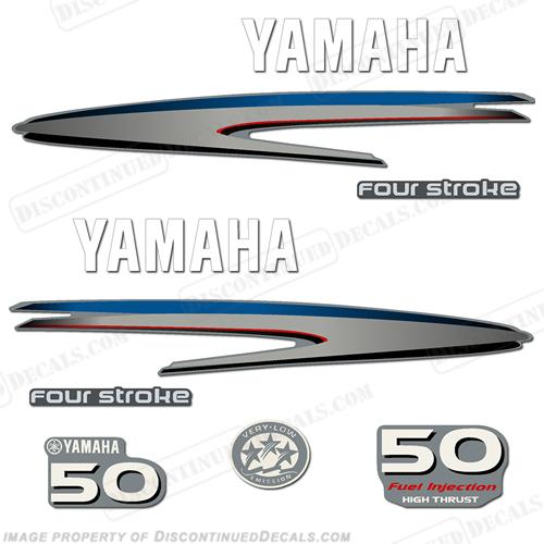 Yamaha 50hp 4 stroke high thrust decal kit for Yamaha 50 hp 4 stroke parts