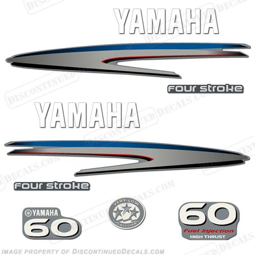 Yamaha 60hp 4 stroke high thrust decal kit for 60 hp yamaha outboard specs