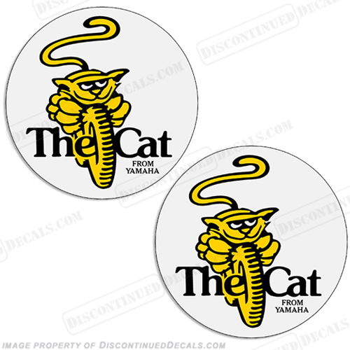 "Yamaha ""The Cat From Yamaha"" Decals (Set of 2)"
