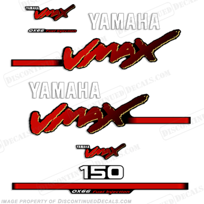 Yamaha 150hp vmax decals 1998 2004 for Yamaha vmax outboard review