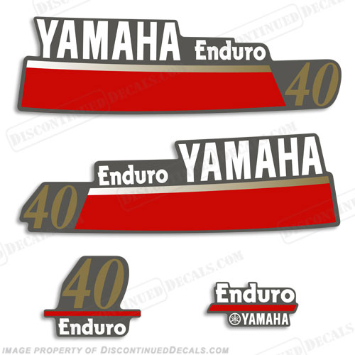 Yamaha 40hp enduro decals for Yamaha enduro 40 hp outboard