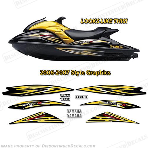 Yamaha 2006 2007 gp1300r pwc decals
