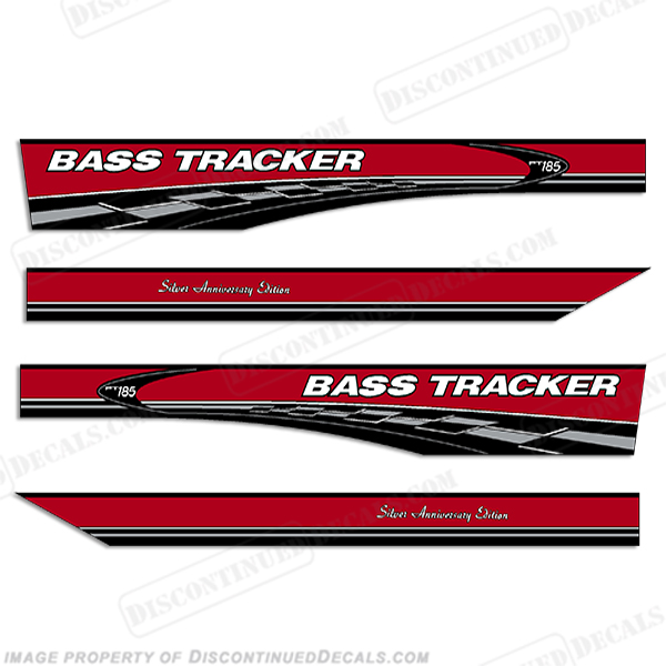 Bass Tracker PT185 Silver Anniversary Edition Decals