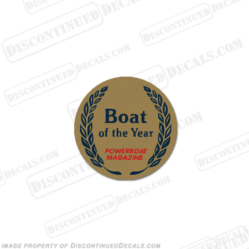 Boat of the Year (Powerboat Magazine) Decal