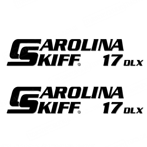 Carolina Skiff 17 DLX Boat Decals - (Set of 2) Any Color!