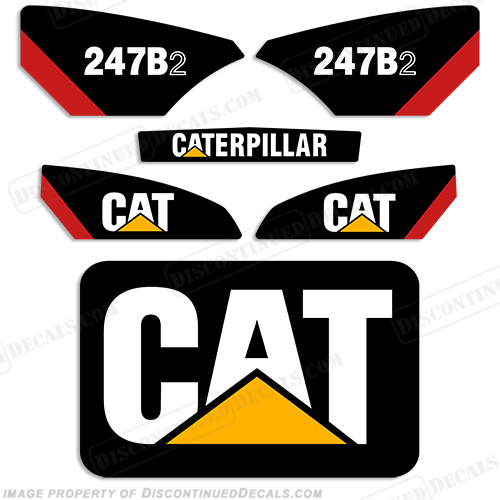 Caterpillar 247B-2 Skid Steer Decal Kit