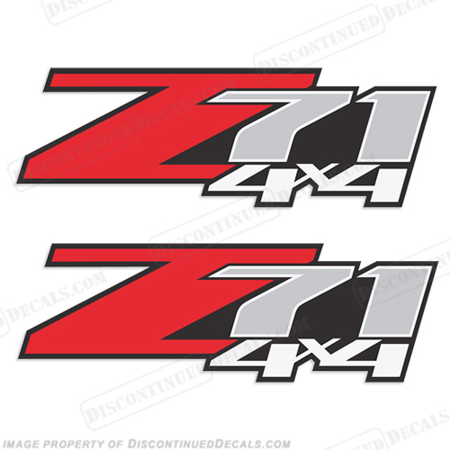 Chevy Z71 4X4 Truck Decals - (Set of 2)