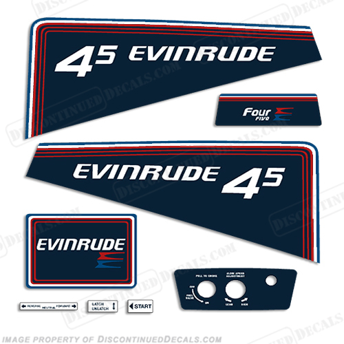Evinrude 1981 4.5hp Decal Kit