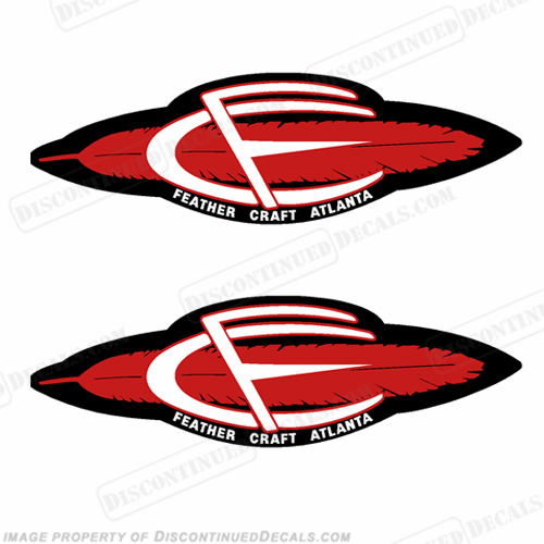 Feather Craft Boat Late 1960 Style Decals (Set of 2)