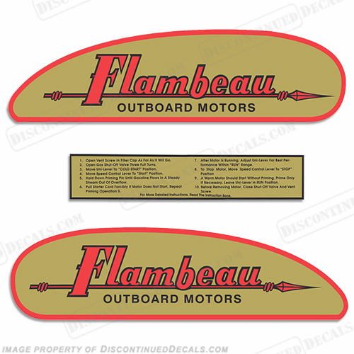 1946-1956 Flambeau Decal Kit