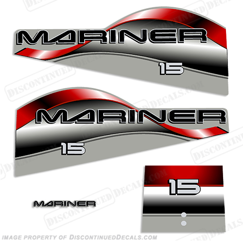 Mariner 15hp Decal Kit - 1998