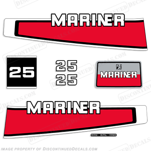 Mariner 1977-1989 25hp Decal Kit