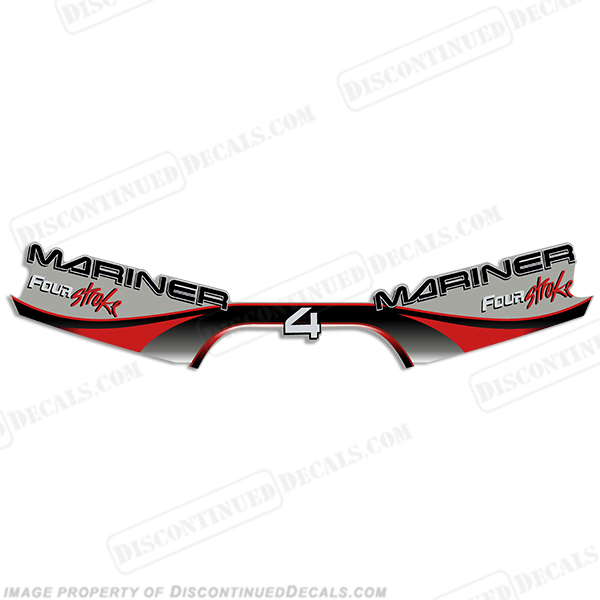 Mariner 4hp Four Stroke Decal Kit 1999 - 2000