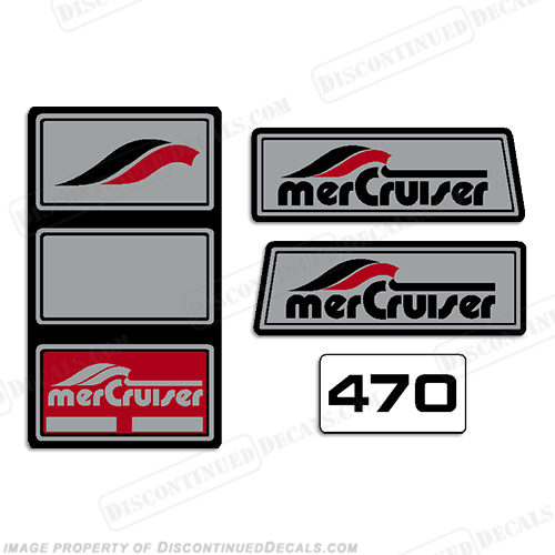 Mercruiser 1965 - 1983 470hp Pre-Alpha Stern Drive Decals