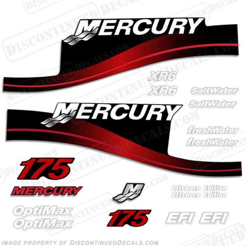 Mercury 60hp decals RED Four Stroke EFI  or Saltwater Series