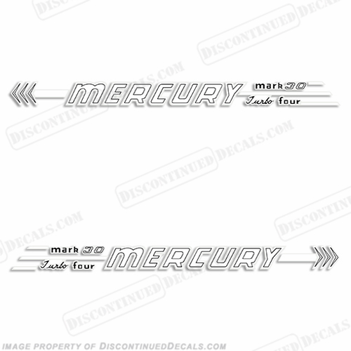 Mercury 1956 30HP Outboard Engine Decals