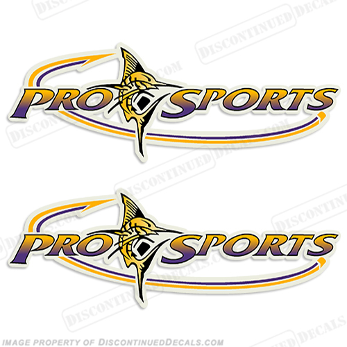 Pro Sports Logo Decal - Yellow/Purple prosport, prosports