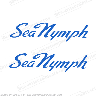 Sea Nymph Boat Decals (Style 1) - Any Color!