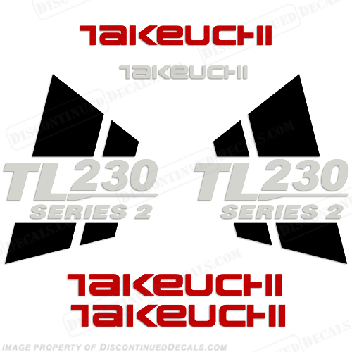 Takeuchi TL230 Series 2 Loader Decals