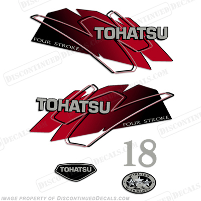 Tohatsu 18hp Decal Kit - Red