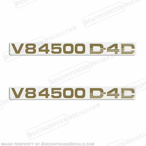 Toyota Landcruiser V8 4500 D4D Decals (Set of 2) - Any Color!