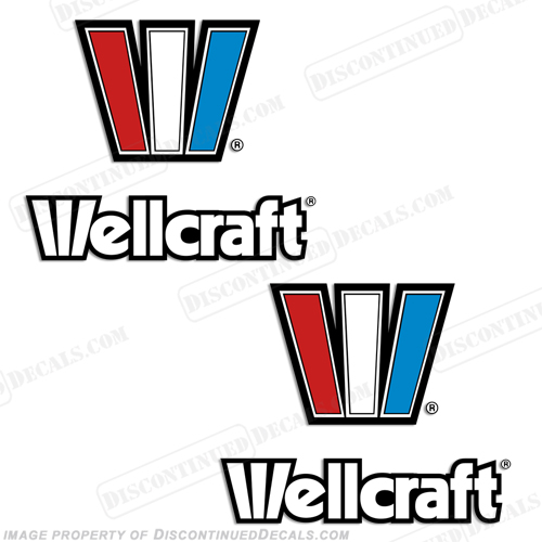 Wellcraft Boat Decals (Set of 2)