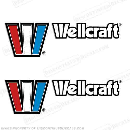 Wellcraft Boat Decals (Set of 2) - 20.5""