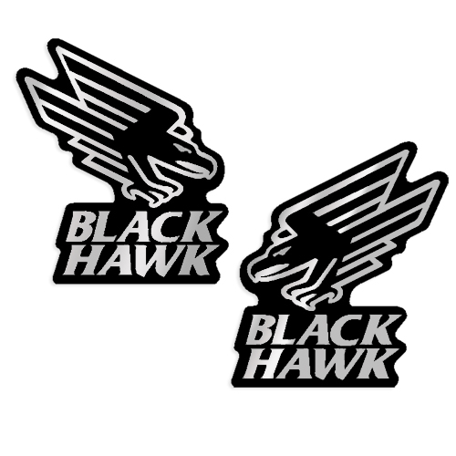 Mercruiser Black Hawk Decals (Set of 2)