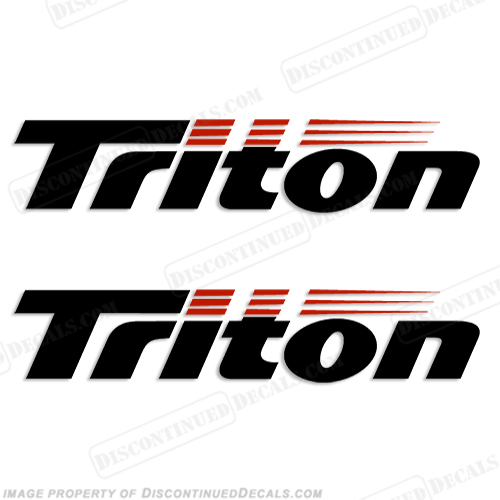 Triton Boat Logo Decals (Set of 2) - Style 1