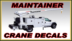 Maintainer Crane Decals