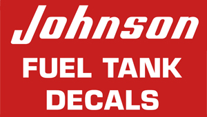 Johnson 1953-1955 6 Gallon Gas Tank Decal