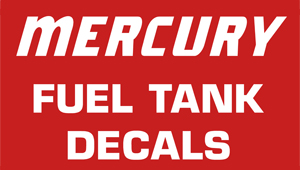 Mercury Fuel Decals