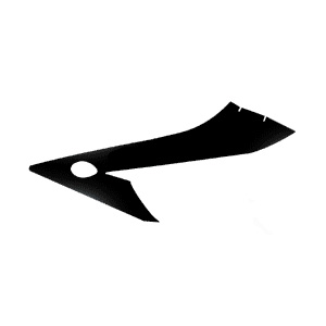 1000RR Left Mid Fairing Decal - Black