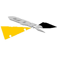 "929 Left Upper ""CBR"" Decal (Yellow/Black)"