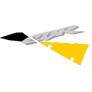 "929 Right Upper ""CBR"" Decal (Yellow/Black)"