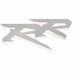 "954 Left Mid Fairing ""RR"" Decal (Silver/White)"